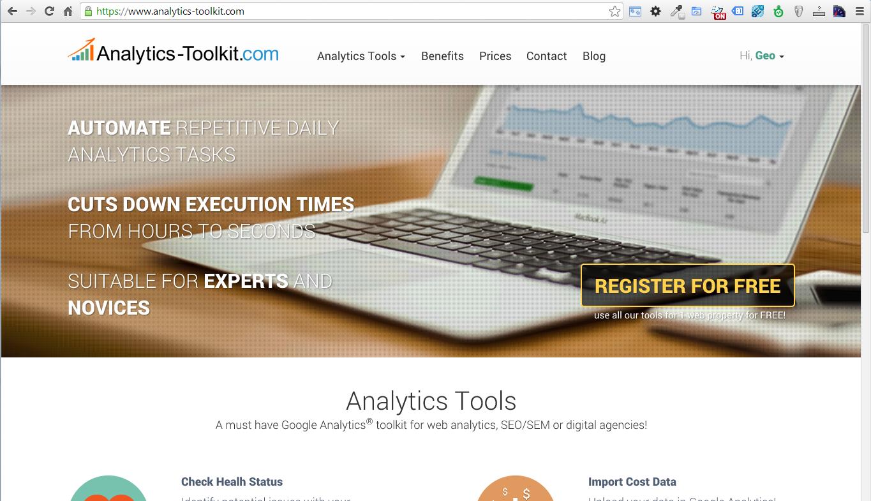 Google Analytics Toolkit HomePage