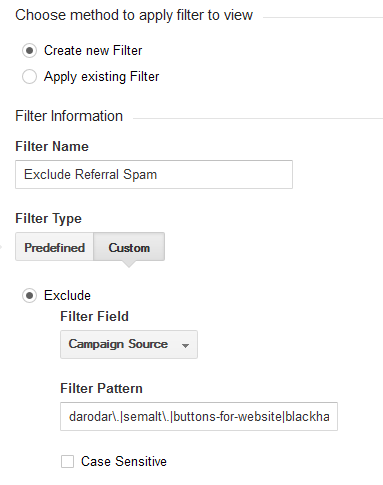 Analytics Referral Spam Filter