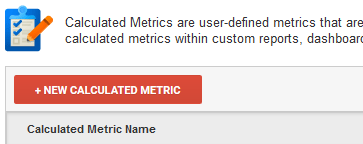 New Calculated Metric