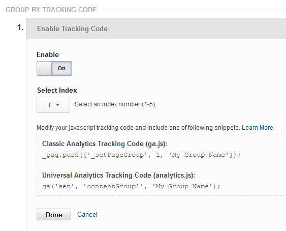 Tracking Code Method
