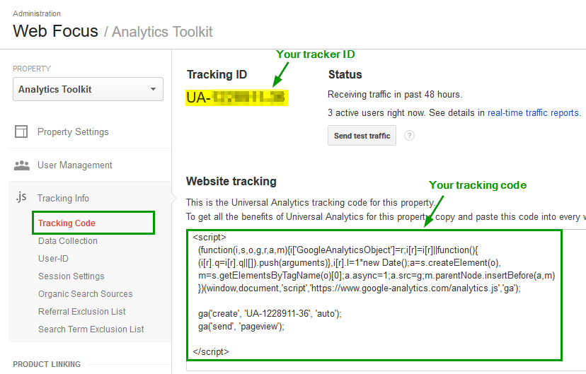 Google Analytics Tracking Code 2