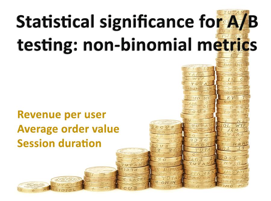 Non-Binomial Significance - Revenue, Per User Metrics