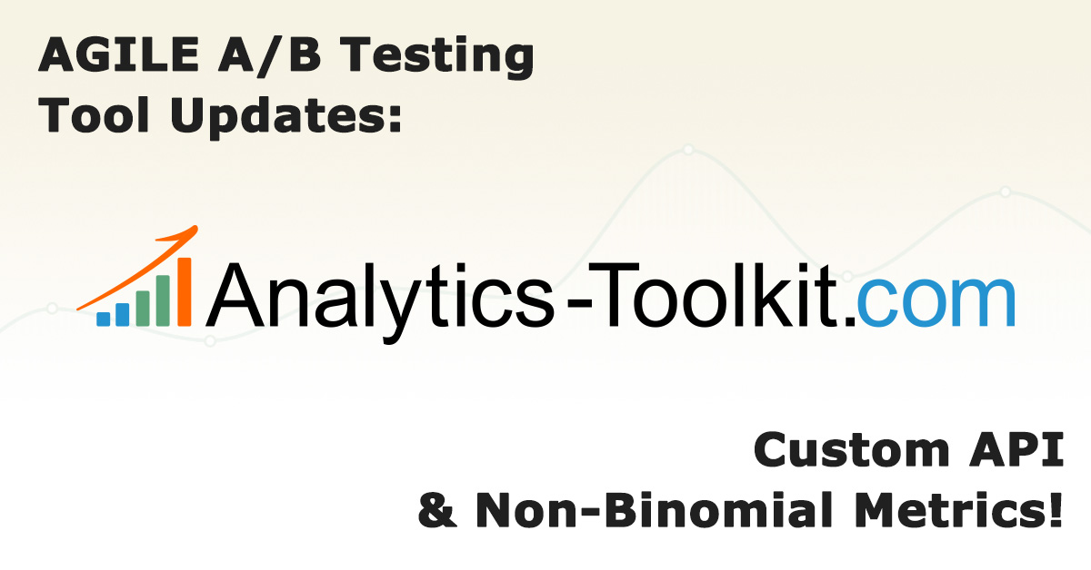 AGILE A/B Testing Tool Updates