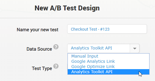 Custom test data API