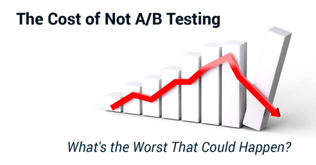 The cost of not a/b testing